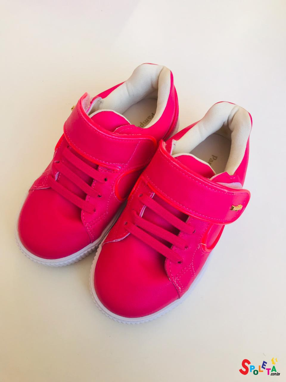 Tênis Feminino Infantil Neon Pink