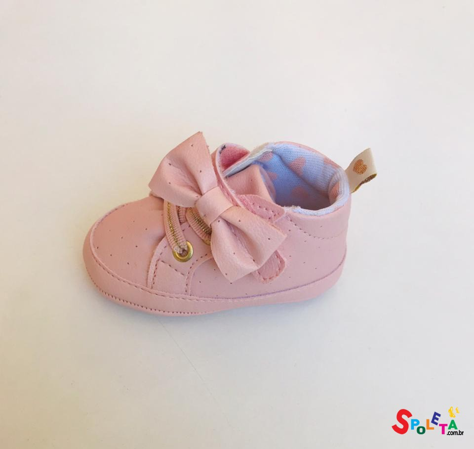 Tênis Infantil Feminino Cano Alto Nina
