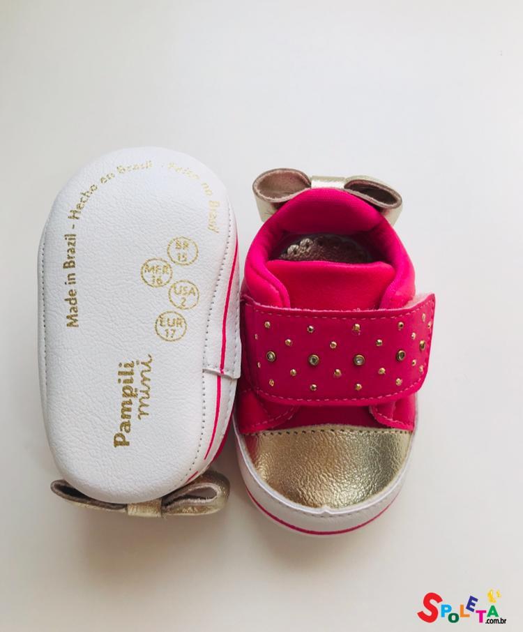 Tênis Pink com Dourado Mini