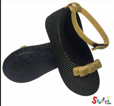 sapato neoprene  Dourado