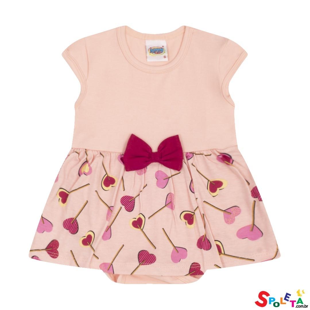 Vestido Body Infantil Cotton