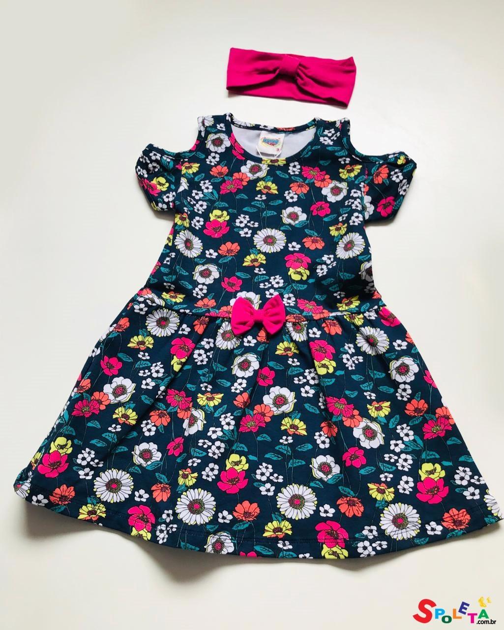 Vestido Infantil Floral Duzizo