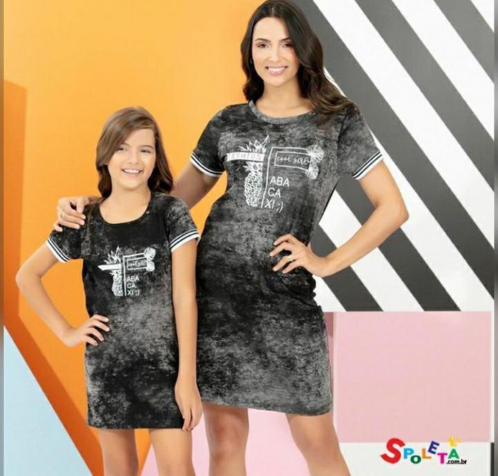 Vestido Estampa Abacaxi - Mãe e Filha