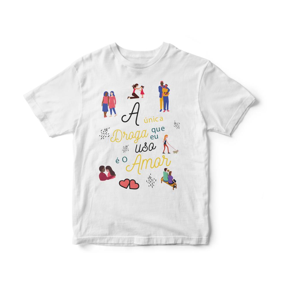 Camiseta INFANTIL Rock Caseiro - Droga de amor