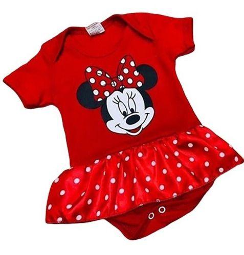 Body Personalizado Bebe - Minnie- Mesversário