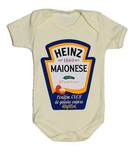 Body Personalizado Bebe - Maionese - Mesversário