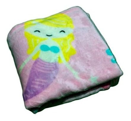 Cobertor Bebê Flannel Kids Sereia - Macio Não Alergico