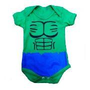 Body Personalizado Bebe - Hulk - Mesversário