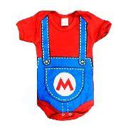 Body Personalizado Bebe Super Mario Bros - Mesversário