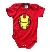 Body Personalizado Bebe Homem de Ferro - Mesversário