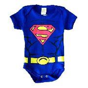 Body Superman Superhomem Bebê Mêsversário Fantasia