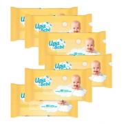 Lenço Umedecido Upa Bebê - Kit c/ 6 Pacotes - 60 folhas