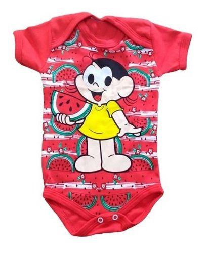 Body Personalizado Bebe - Magali - Turma da Mônica - Mesversário