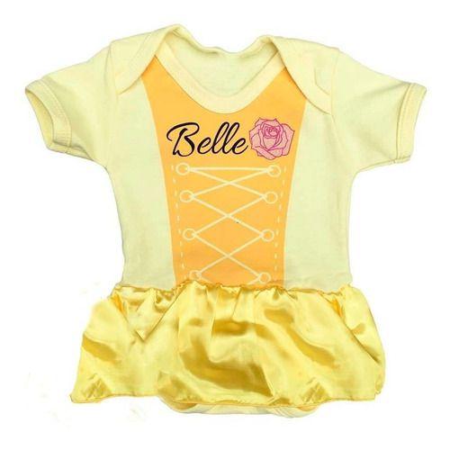 Body Personalizado Bebe - Bela e a Fera - Mesversário