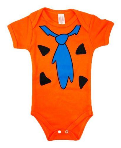 Body Personalizado Bebe Fred Flintstone - Mesversário