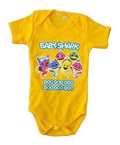 Body Personalizado Bebe BabyShark - Mesversário