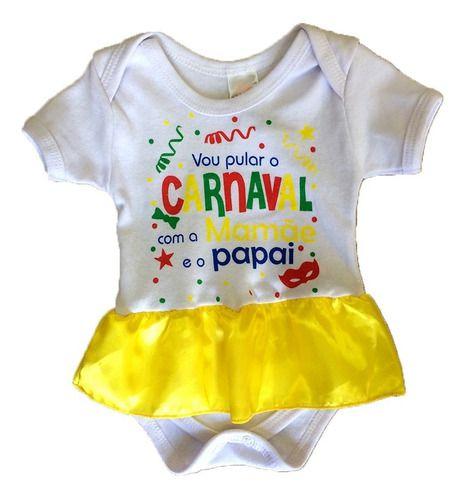 Body Personalizado Bebe 1º Carnaval - Mesversário