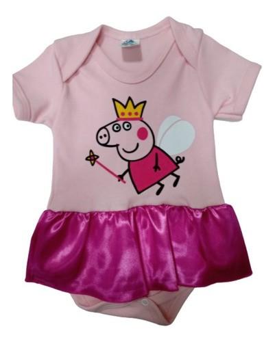 Body Personalizado Bebe - Peppa Pig  Mesversário