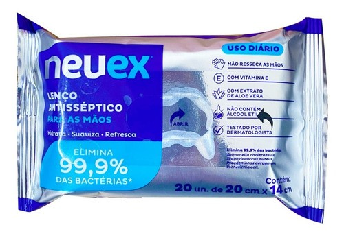 Lenço Umedecido Antisséptico Bebê Neuex 8 Pacotes - Atacado