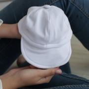 Boné Bebê Com Aba Flexível Malha Branco