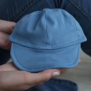 Boné Infantil Com Aba Flexível Malha Azul Bebê