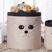 Cesto Organizador Brinquedo E Roupa Suja Grande Panda Preto
