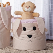 Cesto Organizador Brinquedo E Roupa Suja Médio Coelha Rosa