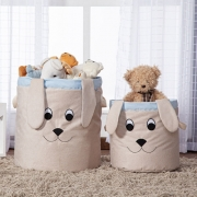 Kit 2 Cestos Organizadores Brinquedo E Roupa Suja Cachorro
