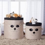 Kit 2 Pçs Cestos Organizadores Brinquedo E Roupa Suja Panda