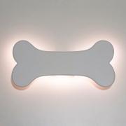 Luminária Decorativa Osso Pet Mdf Branco Com Led Luz Quente