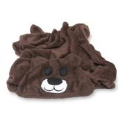Manta Soft Microfibra Bebê E Infantil Com Capuz Urso Marrom