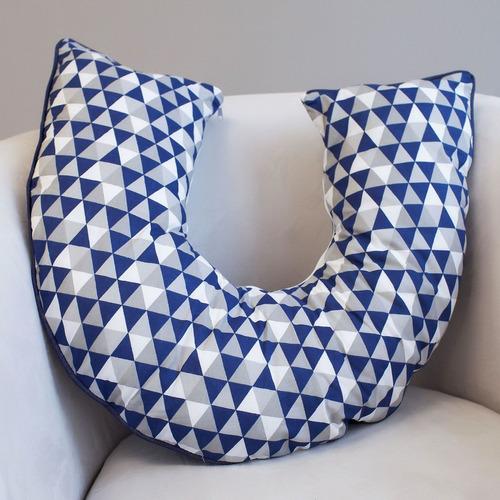 Almofada Amamentação E Apoio Para Sentar Triângulos Marinho