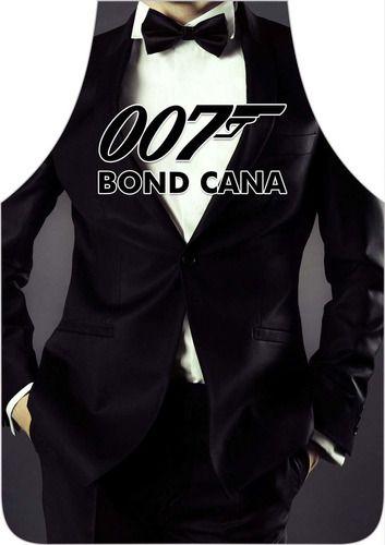 Avental Divertido Personalizado Bond Cana