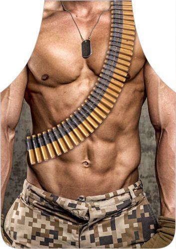 Avental Divertido Personalizado Militar