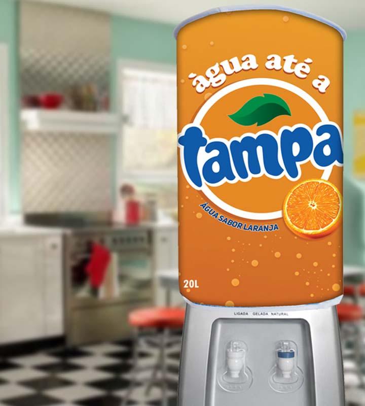 Capa De Galão de Água Divertida 20 Litros Até a Tampa