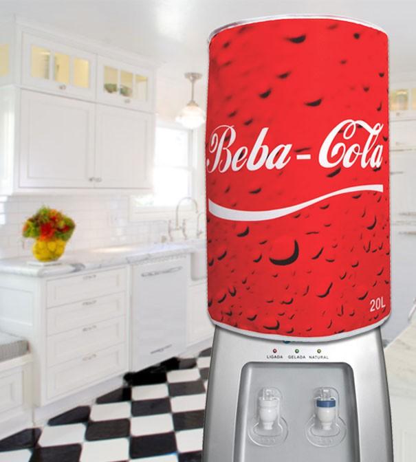 Capa De Galão de Água Divertida 20 Litros Beba Cola