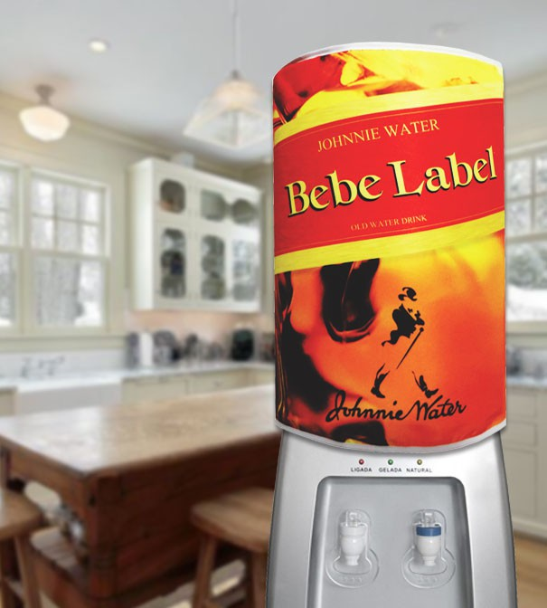 Capa De Galão de Água Divertida 20 Litros Bebe Label