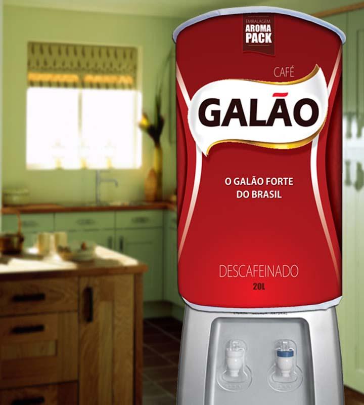 Capa De Galão de Água Divertida 20 Litros Café Galão