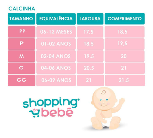 Kit 3 Peças Calcinhas Bebê E Infantil Malha Rosa