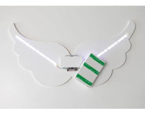 Luminária Decorativa Asa De Anjo Com Led De Luz Fria