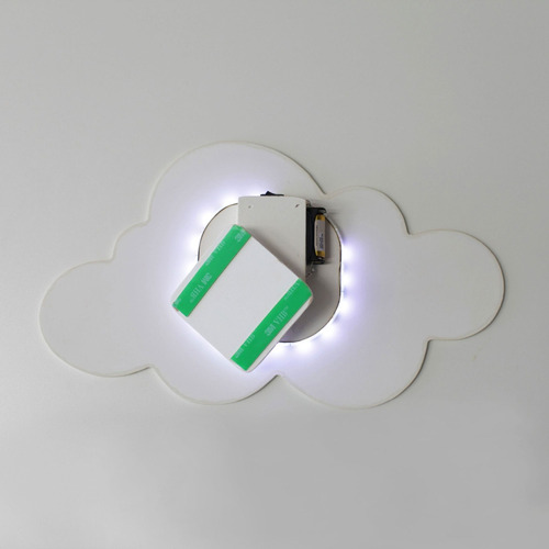 Luminária Decorativa Nuvem Grande Com Led De Luz Fria