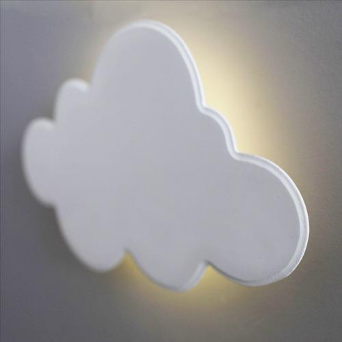 Luminária Decorativa Nuvem Grande Com Led De Luz Quente