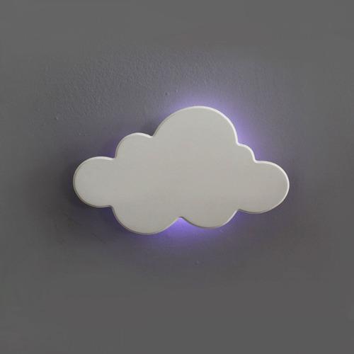 Luminária Decorativa Nuvem Média Com Led De Luz Fria