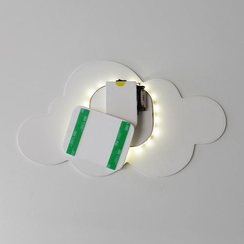 Luminária Decorativa Nuvem Média Com Led De Luz Quente