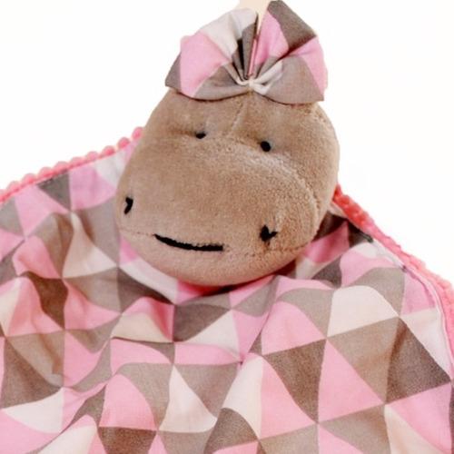 Naninha Pompom Com Prendedor Chupeta Hipopótamo Triangulo