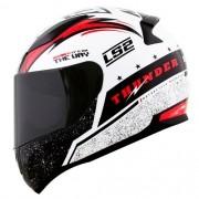 Capacete LS2 FF353 Rapid Thunder Vermelho Branco