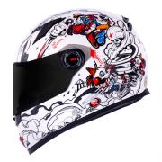 Capacete LS2 FF358 Classic Crazy Clown Branco Lançamento