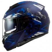 Capacete LS2 FF397 Vector Stencil Preto Azul