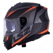 Capacete LS2 FF800 Storm Racer Laranja/Titanium Lançamento