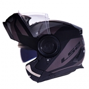 Capacete LS2 FF902 Scope Mask Preto/titanium Escamoteável